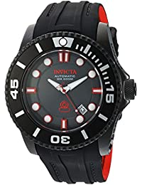 Men's 'Pro Diver' Automatic Stainless Steel and Silicone Diving Watch, Color:Black (Model: 20205)