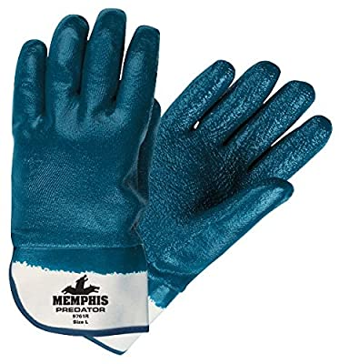 Memphis MCR Safety 9761R Predator, Fully Coated Rough Nitrile Safety Cuff