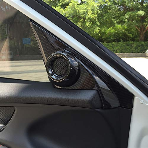 Kadore ABS Carbon Fiber Color Interior Front Door Speaker Window A Pillar Cover Trim for Honda Civic 2016-2019 Sedan 10th Gen 2-pc