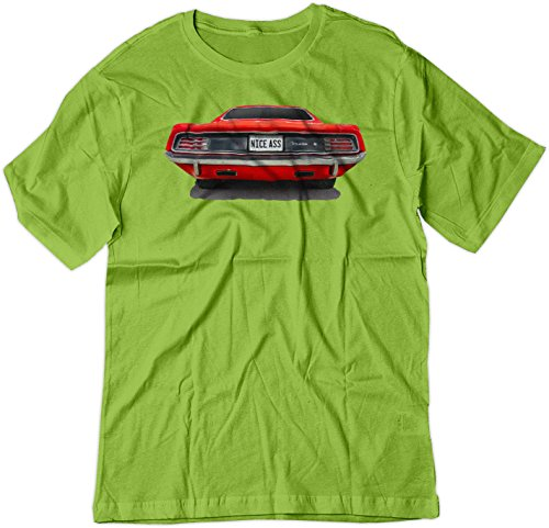 BSW Men's Nice Ass 1970 Plymouth Barracuda Muscle Car Shirt 3XL Lime