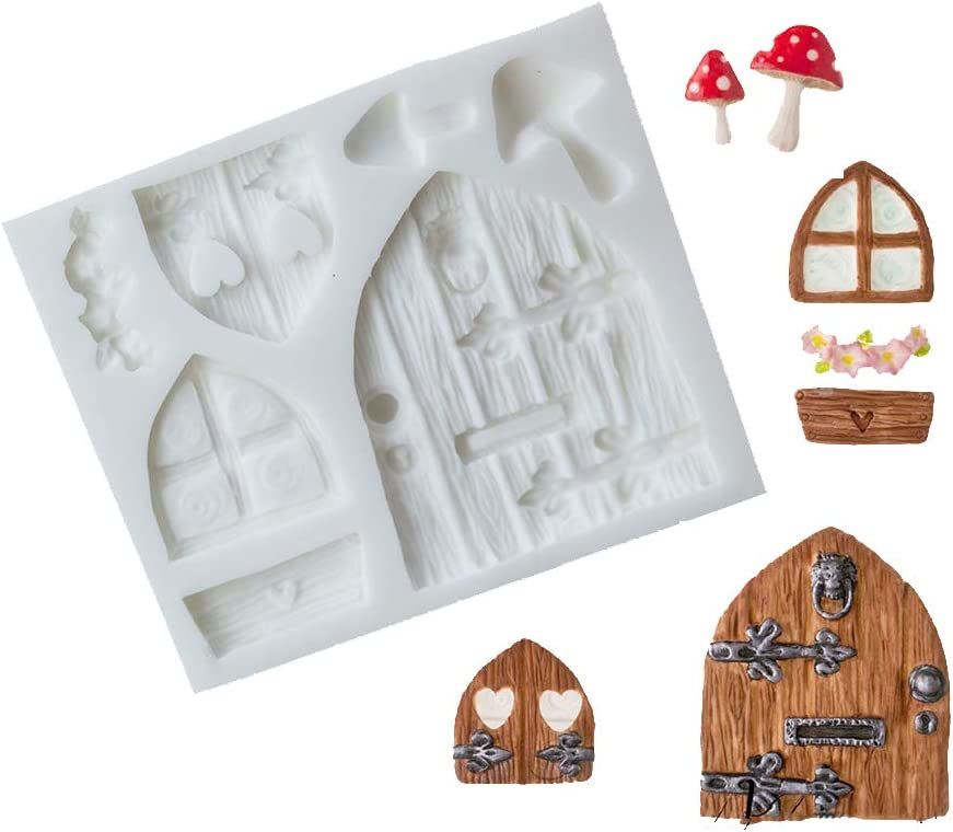 SK 3D Fairy House Christmas Silicone Fondant Mold Cake Decorating Pastry Gumpaste Tool