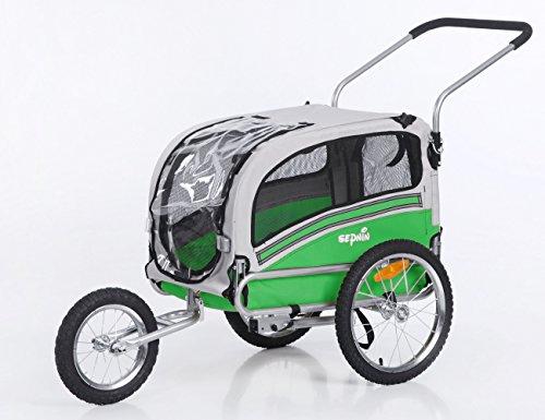 Sepnine 2 in1 medium pet dog bike trailer bicycle carrier...