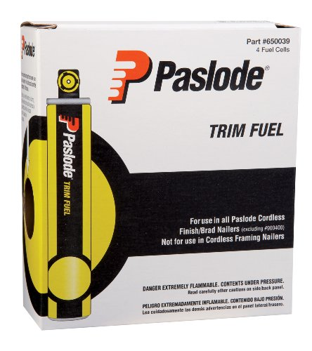 Paslode 650039 Short Yellow Fuel Cell 4-Pack for the Paslode Cordless Trim Nailers