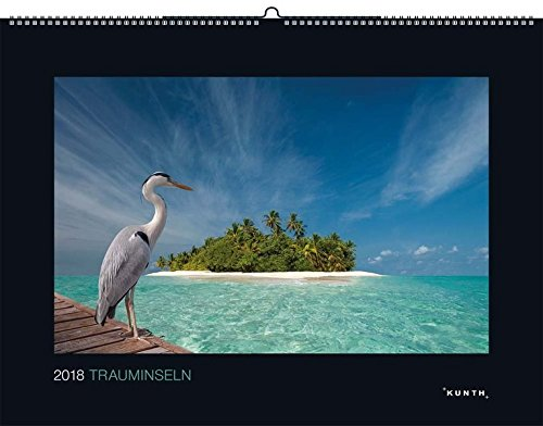Trauminseln 2018: Kalender 2018 (KUNTH Wandkalender Black Edition)