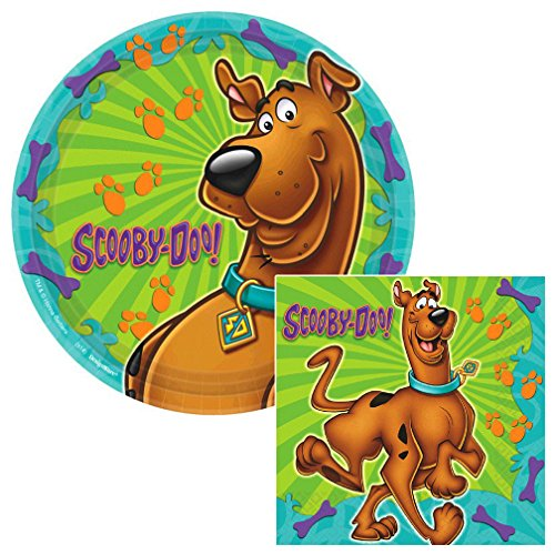 Scooby Doo Where Are You Lunch Napkins & Plates Party Kit for 8