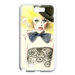 J-LV-F Diy Phone Case Clown Pattern Hard Case For Samsung Galaxy Note 2 N7100