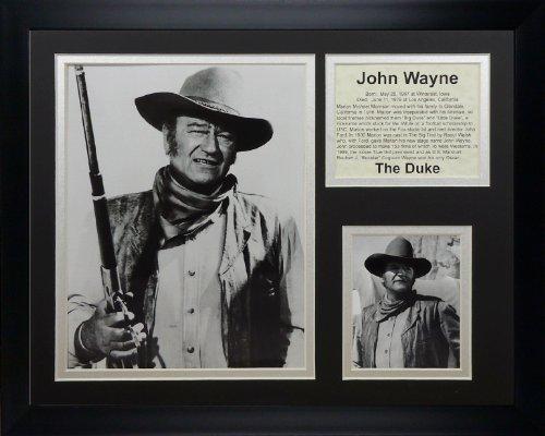 Legends Never Die John Wayne Matted Framed Photo Collage, 11x14-Inch (Legends Wayne John Die Never)
