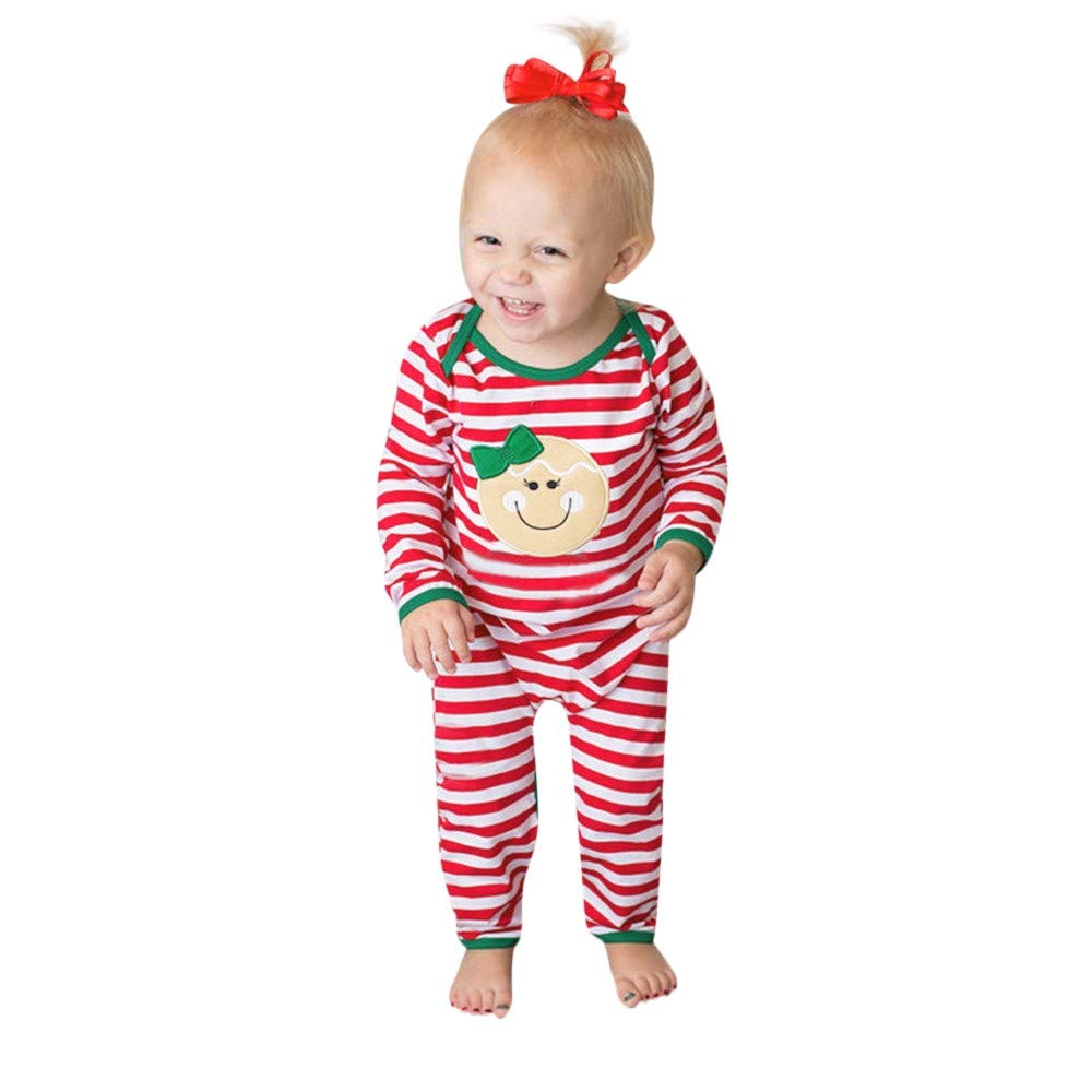 Saihui_Kids Clothes Unisex Boys Girls Rompers Sleepwear Baby Toddler Infant Long Sleeve Striped Cotton Bodysuits Sleepsuit Onesie Pajamas for 6-24 Months