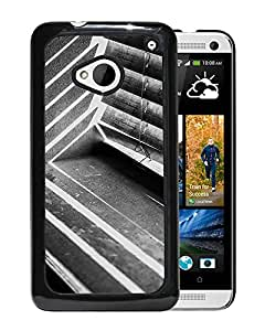 Unique Designed Cover Case For HTC ONE M7 With Mm Dark Shadow Window Black Bw Interior Phone Case