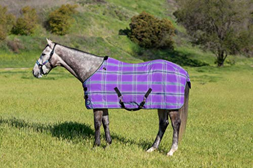 (Kensington Products Poly Cotton Horse Blanket - Lightweight Breathable Waterproof Equine Stable Day Sheet (78, 2017- Lavender Mint))