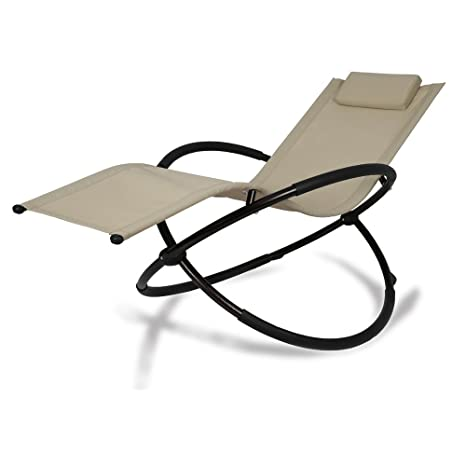 Magnificent Patio Tree Orbital Zero Gravity Patio Chaise Lounge Rocking Lounger Outdoor Lounge Chair 1 Beige Forskolin Free Trial Chair Design Images Forskolin Free Trialorg