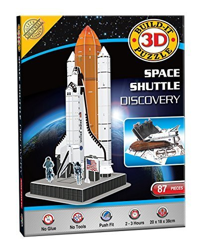 Build Your Own 3D Puzzle Model Kit - Discovery Space Shuttle (87 Pieces)