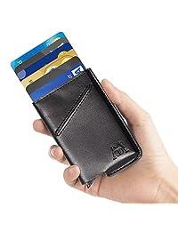 Money Clip RFID Blocking Business Credit Card Holder Auto Pop-up Men Slim Wallet