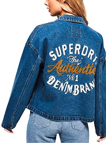 Trucker Bleu Jacket Woman Superdry Denim q81w7vzX