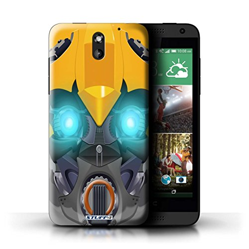 STUFF4 Phone Case / Cover for HTC Desire 610 / Bumble-Bot Yellow Design / Robots Collection