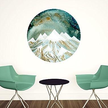 My Wonderful Walls Summer Starlight Wall Decal Zodiac Art by Elise Mahan, Large, Multicolored
