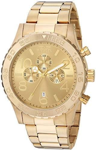 Invicta Men's 1270 Specialty Chronograph 18k Gold Ion-Plated Stainless Steel Watch - Invicta Bezel