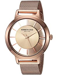 Women's Quartz Stainless Steel Casual Watch, Color:Rose Gold-Toned (Model: KC15172002)