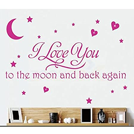 LOVE Quotes Wall Decor Wall Art I LOVE YOU To The Moon And Back ...
