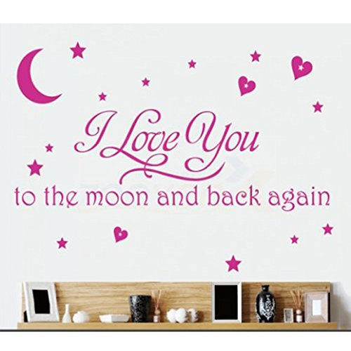 Love Quotes Wall Decor Wall Art I Love You To The Moon And Back