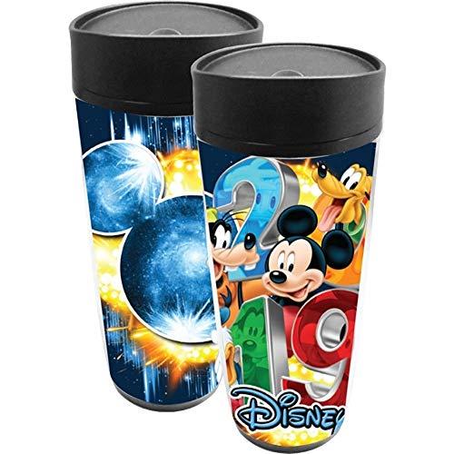 2019 Dated Big Burst Mickey Goofy Pluto Donald Travel Mug (Goofy Mug)