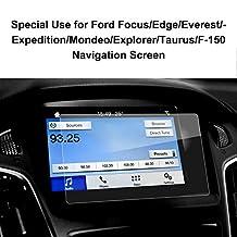 LFOTPP Ford Focus /Explorer / Mondeo / Taurus / F-150 Glass Car Navigation Screen Protector Glass,Clear Tempered Glass Center Touch Screen Protector Against Scratch High Clarity