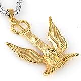 COPAUL Fashion Jewelry Men's Stainless Steel Phoenix Pendant Silver/Gold