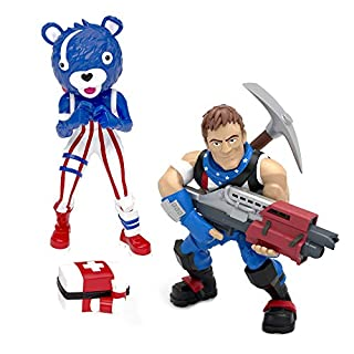 Fortnite Battle Royale Collection - Star-Spangled Trooper & Fireworks Team Leader – 2 Pack of Action Figures