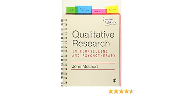 Amazon com: Qualitative Research in Counselling and Psychotherapy