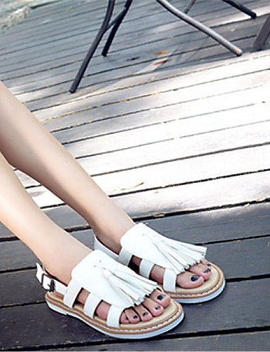 Casual White Heel Women's Sandals Flat Shoes ShangYi White Open Toe xzqR0wvtP