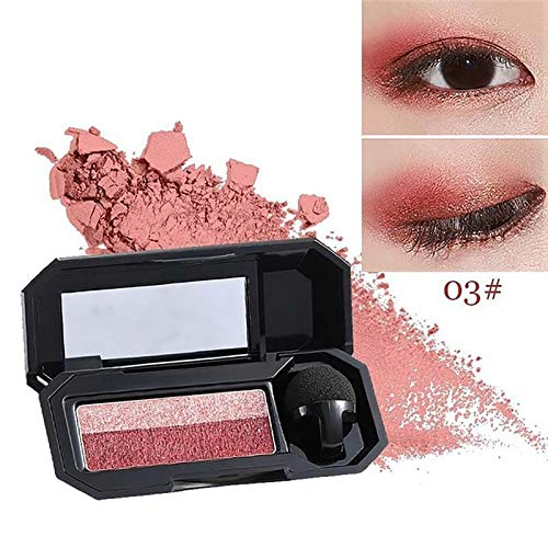 Double Color Shimmer Eyeshadow Nude Eye Color Makeup Waterproof Mineral Powder Glitter Eye Shadows Cosmetics