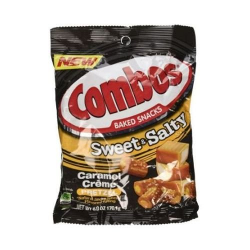 Combos Sweet and Salty Caramel Creme Pretzel Baked Snacks, 6 Ounce - 12 per case.