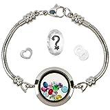 Timeline Treasures Floating Locket Charm Bracelets for Women, Fits European Bead Charms