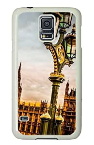 Samsung Galaxy S5 Case Cover - Westminster Palace London Silicone Rubber Case Back Cover for Samsung Galaxy S5 - PC White