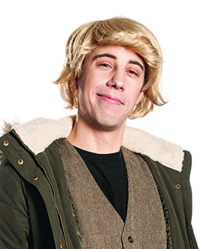 [Kristoff Bjorgman Deluxe Frozen Inspired Blond Men's and Boy's Costume Wig] (Kristoff Costume For Boy)