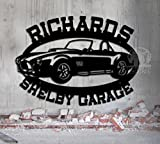 Shelby Cobra Garage - Personalized Garage Sign - Metal Wall Art - Steel Car Art Great Gift Man Cave