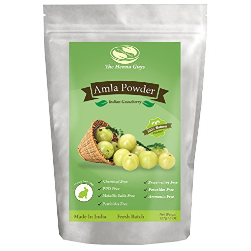227 Grams / 0.5 LB / 08 Oz Indian Gooseberry / Amla Powder / Emblica Officinalis 100% Pure & natural. Food grade hair conditioning and supplements All Natural Herb