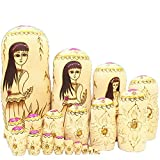 Matryoshka Dolls Made in Russia Nesting Dolls for Girls, 20 Pieces for Kids Toy Birthday Home Decoration Parent-Child Time,1
