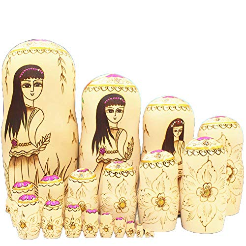 20 Pieces Matryoshka Dolls Made in Russia Christmas Nesting Dolls for Girls, for Kids Toy Birthday Home Decoration Parent-Child Time,1 by DADAO (Image #1)