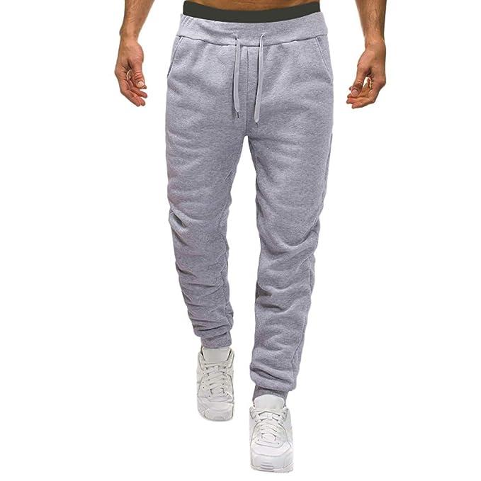SOMESUN Uomo Autunno Joggers Patchwork Casuale Tempo Libero Giuntura  Coulisse Pantaloni della Tuta Pantaloni Stampati fc3e7b8dbfc9