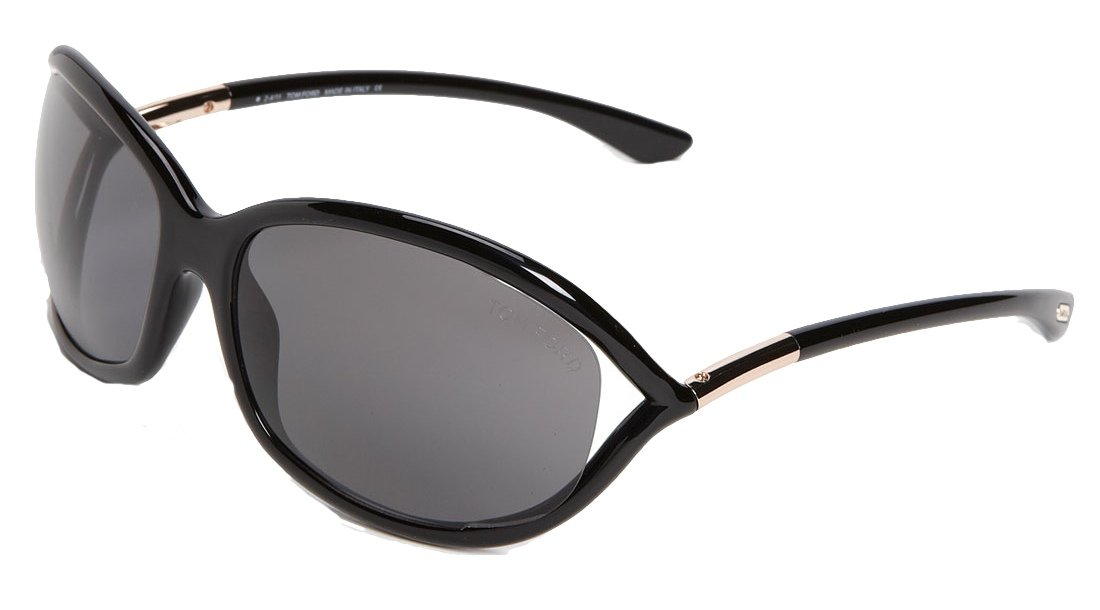 Tom Ford Jennifer New Sunglasses (61 mm, Black Frame Solid Black Lens) by Tom Ford