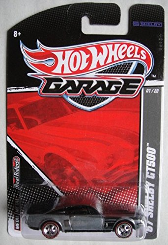 HOT WHEELS GARAGE 01/20, GRAY '67 SHELBY GT500 REAL RIDERS REDLINE (Redline Shelby)