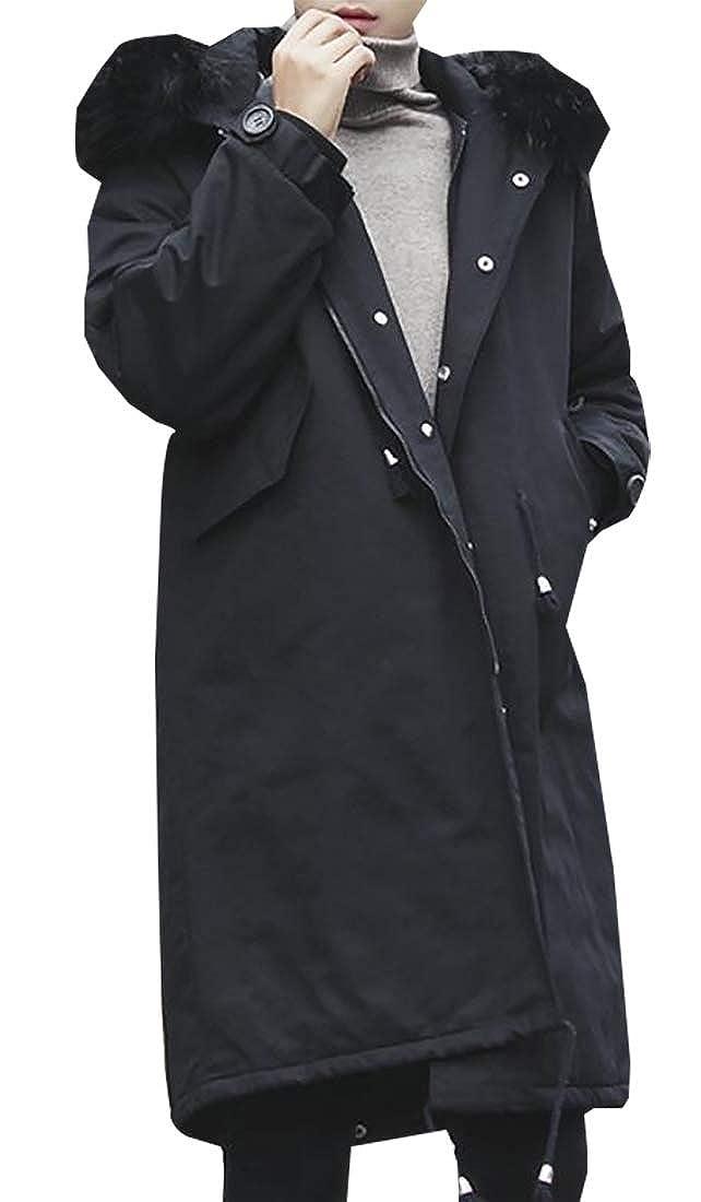 Amazon.com: Moda para hombre con capucha espesar caliente ...