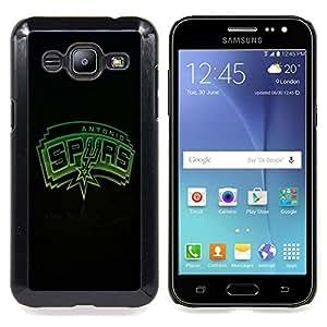 Football San Antonio Caja protectora de pl??stico duro Dise?¡Àado King Case For Samsung Galaxy J2