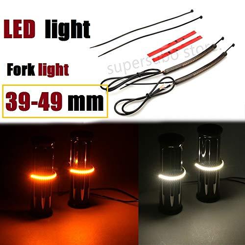 39mm-49mm Fork lighting harley sportster LED light fork Turn Signal Kit w/Smoke Lens For harley 883 xl1200 fork led lights