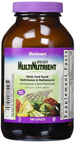Bluebonnet Super Earth Multi-Nutrient Formula Iron Free Caplets, 180 Count by Blue Bonnet