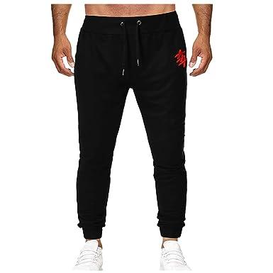 AMUSTER - Pantalón Corto de algodón para Hombre, para Gimnasio ...