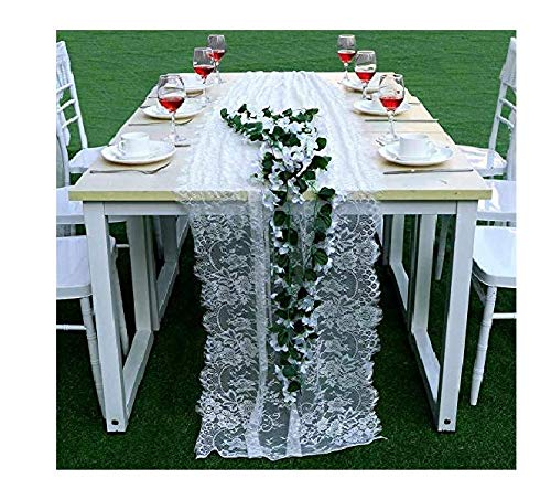 Vintage Lace Chair Sashes Lace Chair Cover White Classy Chair Sashes for Boho Wedding Reception Table Decoration Bridal Shower Party Décor 14 x 118in Boxwinds