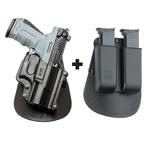 Fobus WP-22 Right Handed Concealed Carry Holster Walther P22 + 6922 Double Magazine Pouch]()
