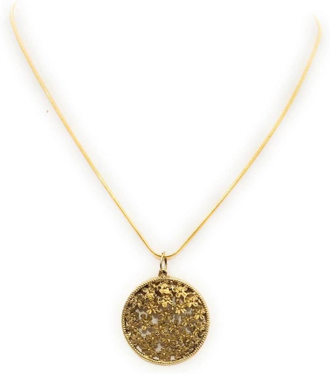 Athizay Pendant Necklace for Women Golden Chain 16 inch Long for Women Fashion Jewelry